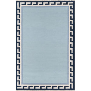 Thompson Hinkley Blue Rectangular: 7 Ft. 6 In. x 9 Ft. 6 In. Rug