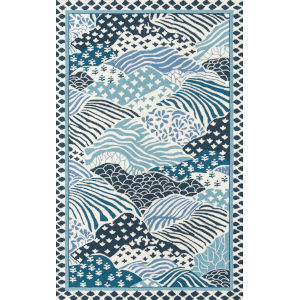 Under A Loggia Windsor Park Blue Rectangular: 3 Ft. 9 In. x 5 Ft. 9 In. Rug