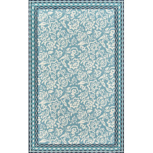 Under A Loggia Rokeby Road Blue Rectangular: 3 Ft. 9 In. x 5 Ft. 9 In. Rug