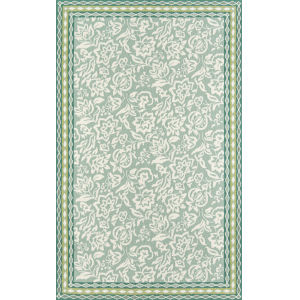 Under A Loggia Green Rectangular: 3 Ft. 9 In. x 5 Ft. 9 In. Rug