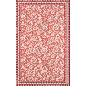 Under A Loggia Rokeby Road Red Rectangular: 3 Ft. 9 In. x 5 Ft. 9 In. Rug