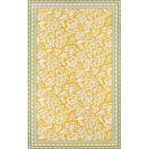 Under A Loggia Rokeby Road Yellow Rectangular: 8 Ft. x 10 Ft. Rug