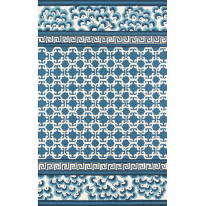 Under A Loggia Navy Rectangular: 8 Ft. x 10 Ft. Rug