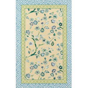 Under A Loggia Blossom Dearie Yellow Rectangular: 8 Ft. x 10 Ft. Rug