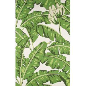 Veranda Leaves Green Rectangular: 5 Ft. x 8 Ft. Rug