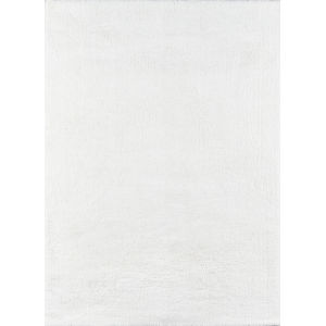 Velvet Shag White Rectangular: 7 Ft. 6 In. x 9 Ft. 6 In. Rug