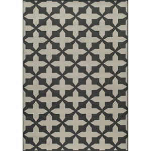 Baja Charcoal Rectangular: 1 Ft 8 in x 3 Ft 7 in Rug