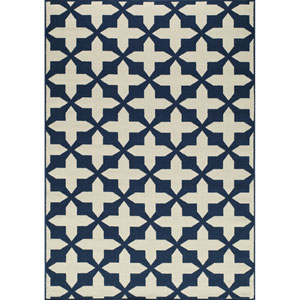 Baja Navy Rectangular: 1 Ft 8 in x 3 Ft 7 in Rug