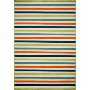 Baja Multi-Colored Rectangular: 5 Ft. 3 In.  X 7 Ft. 6 In. Rug