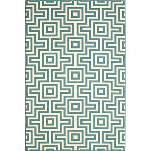 Baja Blue Rectangular: 5 Ft. 3 In.  X 7 Ft. 6 In. Rug