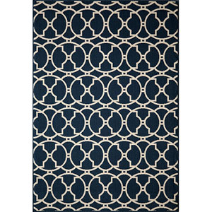 Baja Navy Rectangular: 5 Ft. 3 In.  X 7 Ft. 6 In. Rug