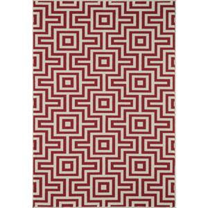 Baja Red Rectangular: 1 Ft 8 in x 3 Ft 7 in Rug