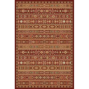 Belmont Red Rectangular: 5 ft. 3 in. x 7 ft. 6 in. Rug