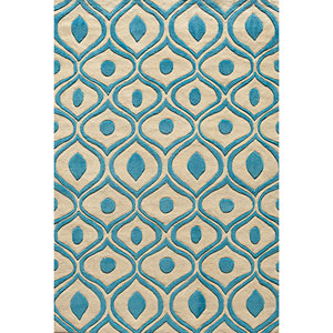 Bliss Blue Rectangular: 5 Ft. x 7 Ft. 6 In. Rug Rug