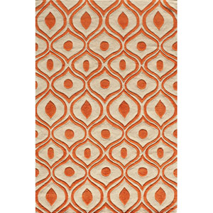 Bliss 09 Orange Rectangular: 5 ft. x 7 ft. 6 in. Rug