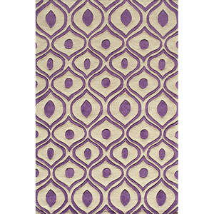 Bliss Purple Rectangular: 5 Ft. x 7 Ft. 6 In. Rug Rug