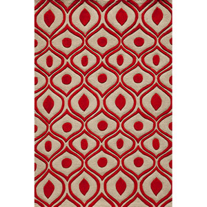 Bliss 09 Red Rectangular: 5 ft. x 7 ft. 6 in. Rug