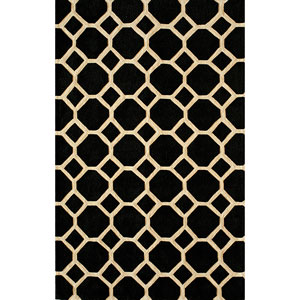 Bliss Black Rectangular: 5 Ft. x 7 Ft. 6 In. Rug Rug