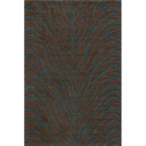Deco Teal Blue Rectangular: 5 ft. x 8 ft. Rug