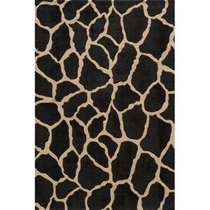 Deco Charcoal Rectangular: 5 ft. x 8 ft. Rug