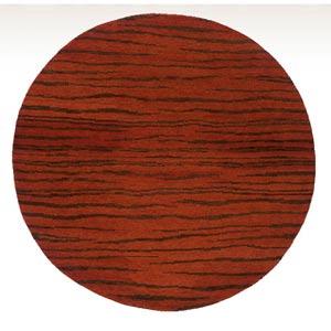 Desert Gabbeh Rust Round: 8 ft. x 8 ft. Rug