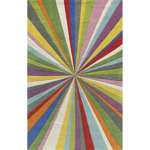 Delhi Multicolor Rectangular: 3 Ft 6 in x 5 Ft 6 in Rug