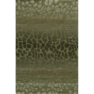 Delhi Green Rectangular: 5 ft. x 8 ft. Rug
