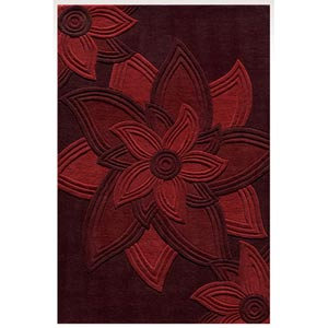 Delhi Red Rectangular: 5 ft. x 8 ft. Rug