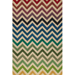 Delhi 41 Multi-Color Rectangular: 5 ft. x 8 ft. Rug