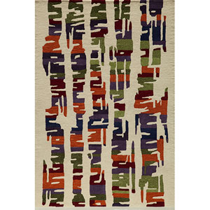 Delhi 42 Multi-Color Rectangular: 5 ft. x 8 ft. Rug