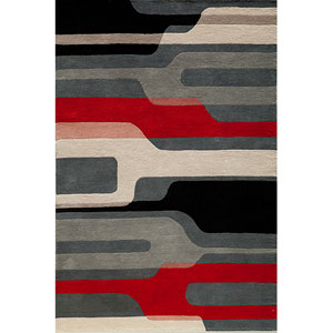 Delhi 43 Black Rectangular: 8 ft. x 10 ft. Rug