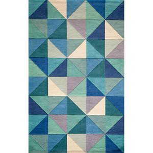 Delhi Blue Rectangular: 3 Ft. 6 In.  x 5 Ft. 6 In. Rug