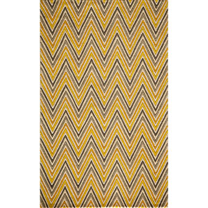 Delhi Yellow Rectangular: 3 Ft. 6 In.  x 5 Ft. 6 In. Rug