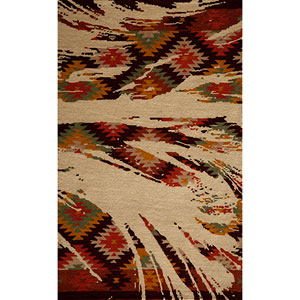 Delhi Multi-Colored Rectangular: 5 Ft. x 8 Ft. Rug Rug