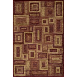 Dream Red Rectangular: 5 ft. 3 in. x 7 ft. 6 in. Rug