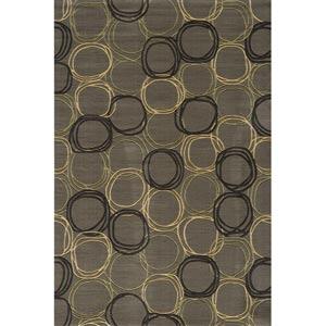 Elements Grey Rectangular: 5 ft. x 8 ft. Rug