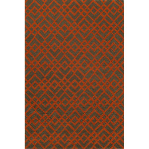 Geo 1 Pumpkin Rectangular: 2 ft. x 3 ft. Rug