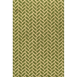 Geo 2 Green Rectangular: 5 ft. x 7 ft. Rug