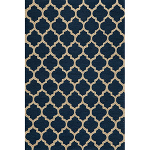 Geo 4 Navy Rectangular: 5 ft. x 7 ft. Rug