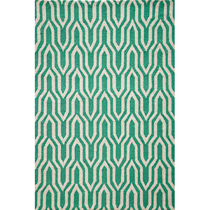 Geo Green Rectangular: 5 Ft. x 7 Ft. Rug Rug