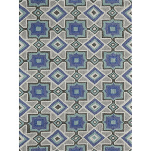 Geo Indigo Rectangular: 2 Ft x 3 Ft Rug