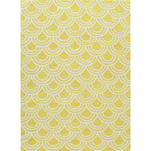 Geo Yellow Rectangular: 2 Ft x 3 Ft Rug