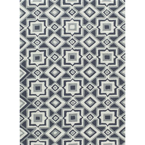 Geo Charcoal Rectangular: 2 Ft x 3 Ft Rug