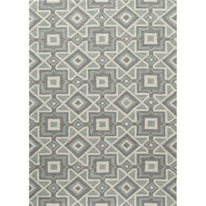 Geo Grey Rectangular: 2 Ft x 3 Ft Rug