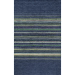 Gramercy Blue Runner: 2 Ft 6 in x 8 Ft Rug