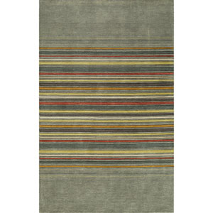 Gramercy Grey Rectangular: 3 Ft 6 in x 5 Ft 6 in Rug