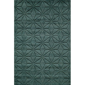 Gramercy 17 Blue Rectangular: 3 ft. 6 in. x 5 ft. 6 in. Rug