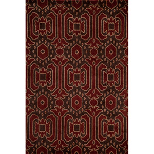 Habitat 01 Brown Rectangular: 5 ft. x 8 ft. Rug