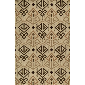 Habitat 03 Cream Rectangular: 5 ft. x 8 ft. Rug