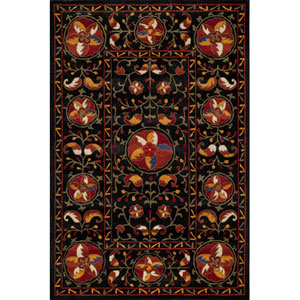 Habitat 08 Black Rectangular: 5 ft. x 8 ft. Rug